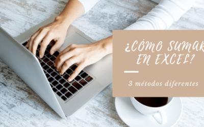 Cómo sumar en Excel