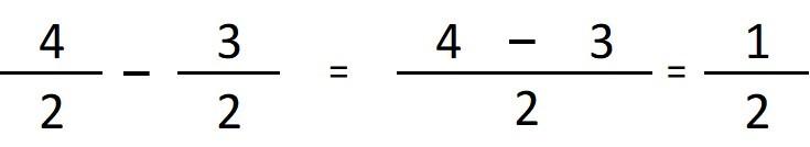 ejemplo resta de fracciones