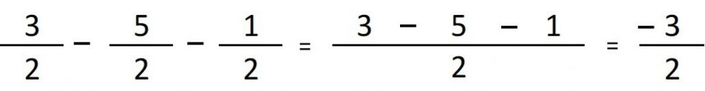 resta de fracciones con el mismo denominador