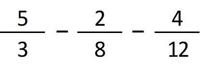 restar una fraccion con diferentes denominadores