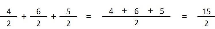 sumar fracciones con denominador igual