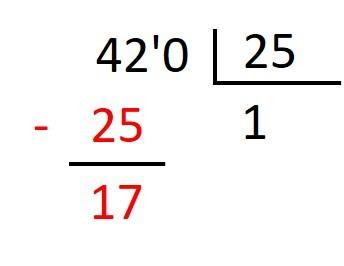 Ejemplo de Division con divisor decimal