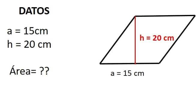 base y altura del rombo