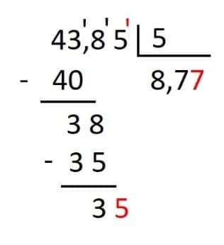 ejemplo de division con decImales