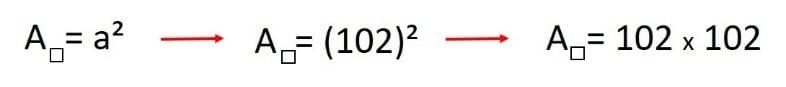 ejercicio para calcular el area de un cuadrado