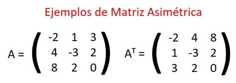 matriz asimetrica