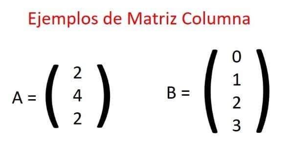matriz cde columna
