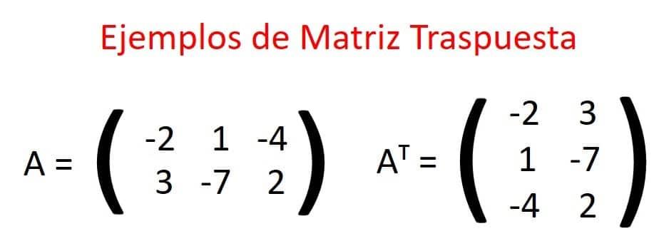 matriz traspuesta
