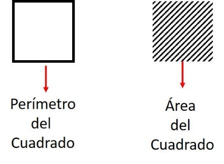 perimetro y area de un cuadrado