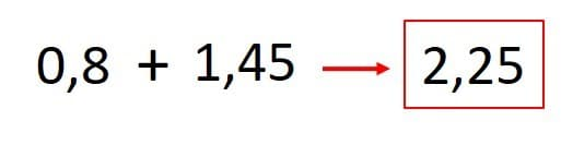 suma de decimales