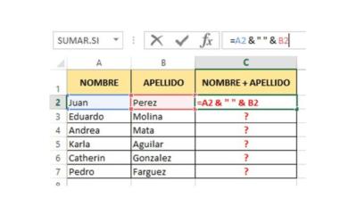 Cómo Concatenar en Excel: ¿Qué es y para que sirve?