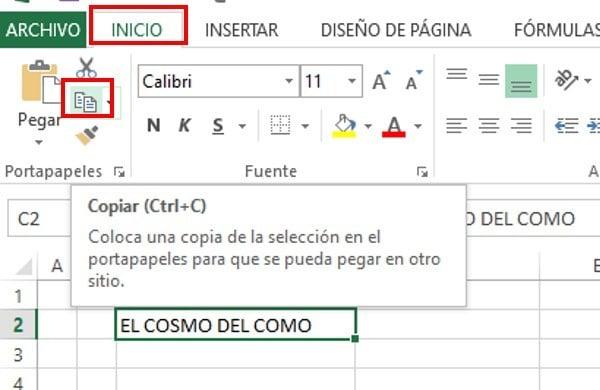 atajos del teclado copiar