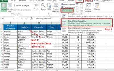Cómo Fijar la Primera Fila en Excel: Explicación simple