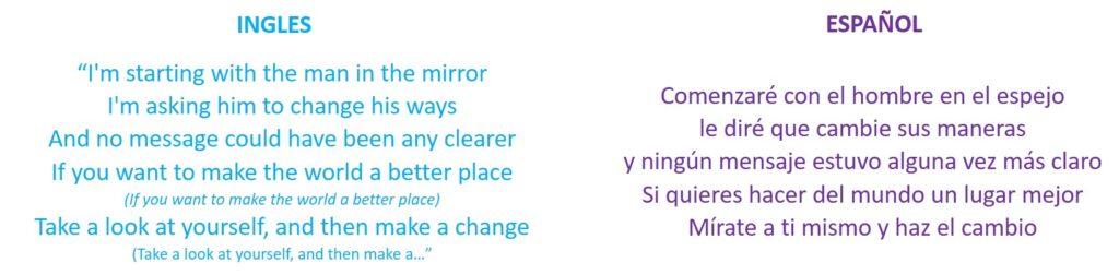 Cambia tu Mundo Frase y Cancion